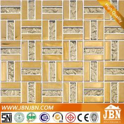 직조 모양의 글로드 컬러 거실 벽 유리 모자이크(G658007)