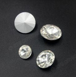 Le cristal blanc clair en gros de Rivoli perle la pierre de fantaisie