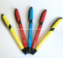 Buon penna di sfera di plastica stampata marchio promozionale popolare