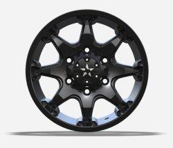 4X4 Alloy Wheels con la fronte di taglio nera UFO-8003 della macchina