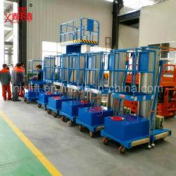 4-10m de la Chine Hot Sale 100kg mât unique Un homme manuel hydraulique mobile personnelle de l'échelle électrique pour la vente de levage