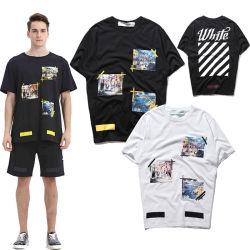 Maglietta di stampa di scambio di calore del cotone degli uomini 100 di alta qualità