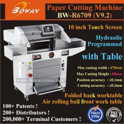 Uitgeverij Hydraulisch Geprogrammeerd Automatisch 670mm A3 A4 Formaat Industriële Elektrische Guillotine Papiersnijder