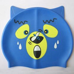 Bear Cartoon Piscina Silicone Hat para crianças