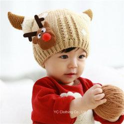 Les enfants Deer forme tricot de velours Cap