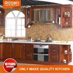 China madera de teca sólida Unidad de la fábrica de muebles de cocina armario de cocina
