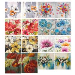 Impression sur toile de fleurs Toile de peinture à l'huile à la main Home Deco