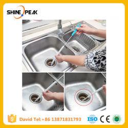 下水道のクリーニングブラシ、ホーム折り曲げられる流しのたらいの洗面所の浚渫機の管のヘビのブラシは創造的な浴室の台所アクセサリに用具を使う