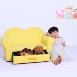 Sala de Estar mobiliário Sofá definir dois Seat com gaveta/mobiliário infantil