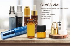 Claro, y rodillo Mate Perfume botellas de vidrio