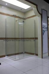 크롬 알루미늄 샤워 벽 8mm 강화 유리 Wetroom 위원회 샤워 유리