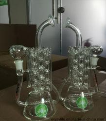 Le recycleur Inline Perc en verre de forme du radiateur de chauffage de fumer pipe à eau