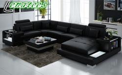 [غ8023] حديثة أريكة قطاعيّة أريكة جلد أريكة محدّد يعيش غرفة أثاث لازم مع [لد] ضوء