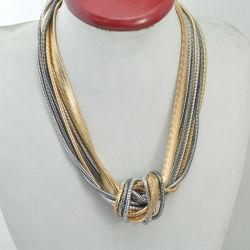 VAGULA Rodio chapado en oro y la cadena de moda collar SW1761