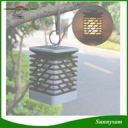 La decoración exterior de la luz de la llama de vela solar LED impermeable de jardinería paisajística Linterna colgantes