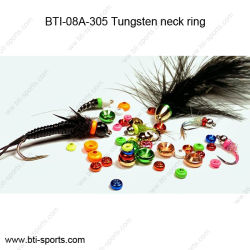 Les accessoires de pêche volent attachant la boucle 08A-305 de collet de tungstène de talons