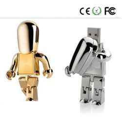 Libre de conception de logo gravé Robot lecteur Flash USB (JSJQR)