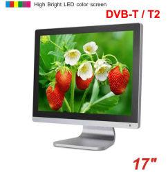 17 بوصة DVB-T DVB-T2 Digital TFT LCD TV MPEG4 VGA HDMI USB TDT التلفزيون الأرضي Decodicador DVB-T17