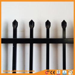 Revêtement poudré noir de haute sécurité clôture Spear Haut de page