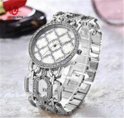 Diamant van de manier nam het Gouden/Gouden Zilveren Polshorloge #V340 van de Ketting van de Vrouwen van het Horloge van de Armband toe