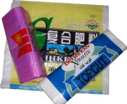 Saco de tecido PP 50kgs 25kgs, Bolsa Alimentação, saco de grãos, saco de arroz, saco de farinha, açúcar saco, saco de adubo, sacos tecidos de PP
