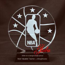 NBA хрустальное стекло трофей для баскетбола