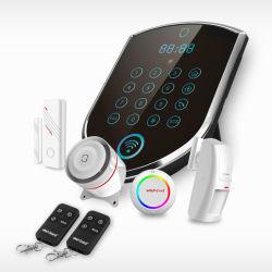 2016년 공장 직영 공급! IP 카메라 GSM 경보 시스템 + WiFi PSTN 홈 보안 경보 시스템과 함께 작동합니다