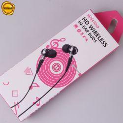 Conception personnalisée Sinicline rougeoyant iPhone TWS Bt hybride sans fil avec micro des écouteurs Rose Boîte avec Blister