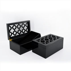 Boîte d'artisanat en bois avec finition piano pour cadeau (628192)