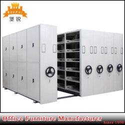 Jas-070 usine roue à main actionné Mobile livre étagères métalliques verrouillables