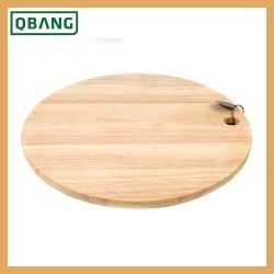 Bamboo Thick Round Circle Cheese Cutting Board Pizza Serving Platter Con Custom