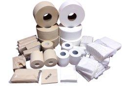 Ménage de bambou recyclés vierge du rouleau de papier de toilette