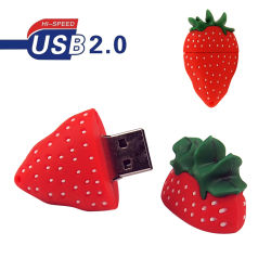 USB ad alta velocità Pendrives della fragola del USB 2.0 del fumetto del USB dell'istantaneo dell'azionamento 32GB 64GB 128MB del bastone sveglio di memoria