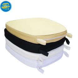 Espessura personalizados PU Almofada de poliéster para cadeira de casamento
