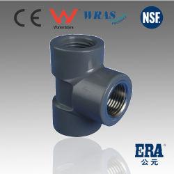 UPVC-Druckrohrfittings T-Stück mit Innengewinde für BS-Standard, CE-zertifiziert