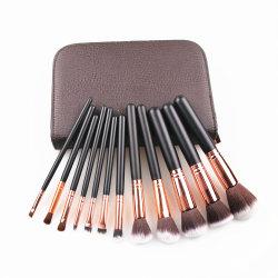 Set Di Pennelli Per Trucco 12pcs Premium Synthetic Foundation Powder Concealers Contour Eye Shadows Blending Face Brow Lip Blush Con Cosmetic Bag Esg11428