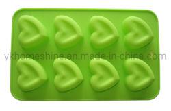 Großhandel Dauerhafte Herzform Custom Silikon Cake Tray Form