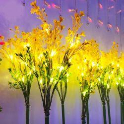 Événement de mariage en plein air Park Home L'utilisation de tissu fleur jaune de lumière à LED