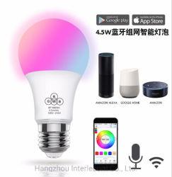 지능적인 RGBW LED 전구 다색 WiFi APP 통제되는 훈장 빛