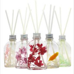 Boîte de dialogue personnalisée de gros emballages de luxe d'éclairage LED fleur sèche bouteille d'Huile Essentielles Naturelles diffuseur Reed