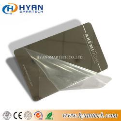 Kundenspezifische Edelstahl-MetallVisitenkarte mit Goldenem/Silber-Pinsel/Unterseite
