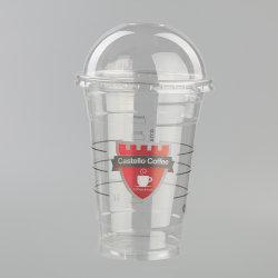 كوب طيران بلاستيكي يمكن التخلص منه لتناول مشروب ساخن، أكواب شاي PP، أكواب مع كوب شراب الفاكهة والشعار