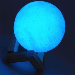 Altavoz Bluetooth portátil inalámbrico El Lunar 16 colores de la luz de Luna en 3D decorativos