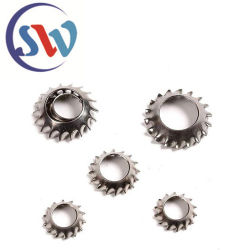 DIN6798ステンレス鋼外部歯または先を細くされた洗濯機が付いている鋸歯状にされたロック洗濯機