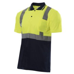 Polo Di Sicurezza Per Il Traffico Hi Vis Safety Reflective Short Sleeve Workware