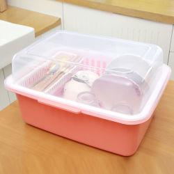 乾燥ガラス、ボール、版のための大きくコンパクトなプラスチック水切りかご