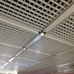 考え3Dの内部の装飾のためのアルミニウム格子天井の終わり材料を飾ること