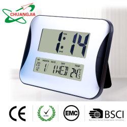 Secretária grande Relógio de Alarme com o calendário e temperatura interior