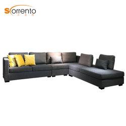 Stile moderno L elegante sofà del tessuto di figura per uso delle case
