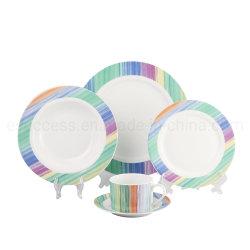 特別デカールキッチン用品を使用した磁器食器の卸売中国工場プレート製造業者